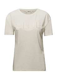 Fringe embroidery t-shirt - NATURAL WHITE