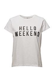 Organic cotton message t-shirt - WHITE