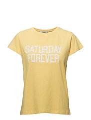 Organic cotton message t-shirt - YELLOW
