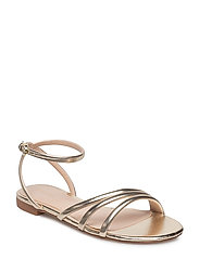Metallic strap sandals - GOLD