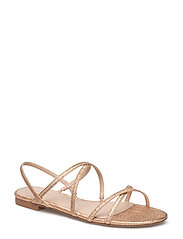 Metallic strap sandals - RUST - COPPER