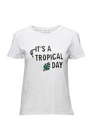 Crystal appliqu t-shirt - WHITE