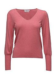 Ribbed metallic sweater - PINK