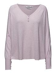 V-neckline sweater - LT-PASTEL PURPLE