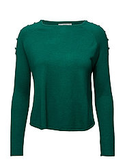Decorative button sweater - GREEN