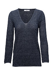 Metallic finish sweater - NAVY