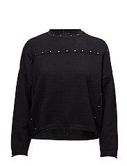 Studded sweater - BLACK