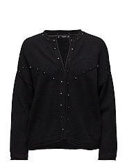 Studded cardigan - BLACK