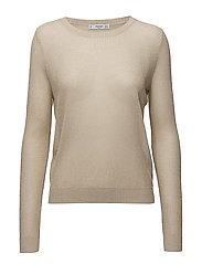Metallic thread textured sweater - LT PASTEL GREY