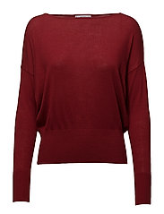 Fine-knit sweater - MEDIUM RED