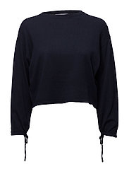 Puffed sleeves sweater - NAVY