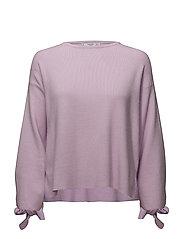 Sleeve knotted sweater - LT-PASTEL PURPLE
