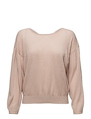 Back vent sweater - LT-PASTEL PINK