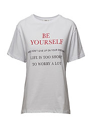 Be yourself t-shirt - WHITE
