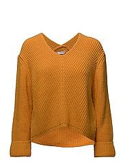 V-neckline sweater - DARK YELLOW