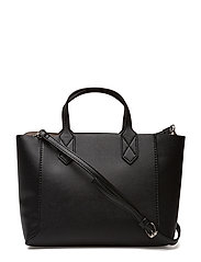 Pebbled effect shopper bag - BLACK