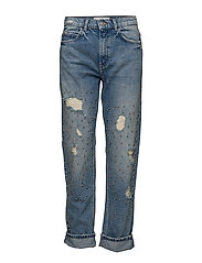 Pearl embroidery jeans - OPEN BLUE