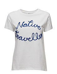Embroidered message t-shirt - WHITE