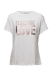 Metallic message t-shirt - WHITE