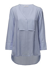 Flowy panel blouse - LT-PASTEL BLUE