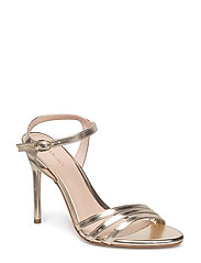 Metallic heel sandals - GOLD