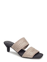 Strappy heeled sandals - GREY