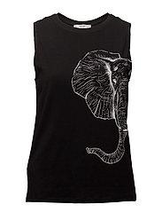 Animal print t-shirt - BLACK