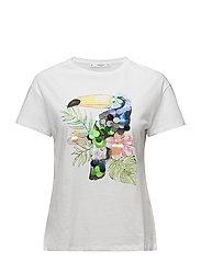 Sequin print t-shirt - WHITE