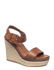 Wedge sandals - MEDIUM BROWN