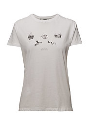 Organic printed cotton t-shirt - NATURAL WHITE