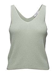 Fine knit top - TURQUOISE - AQUA