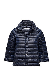 Quilted down anorak - MEDIUM BLUE