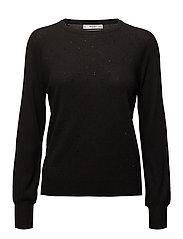 Crystal detail sweatshirt - BLACK