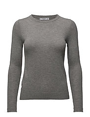 Ribbed edges sweater - GREY