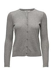 Fine-knit cardigan - GREY
