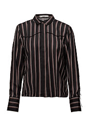 Fringed trims shirt - BLACK