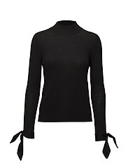 Sleeve knotted sweater - BLACK