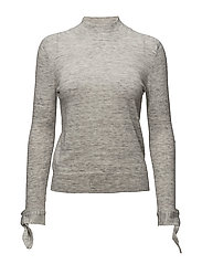 Sleeve knotted sweater - MEDIUM GREY