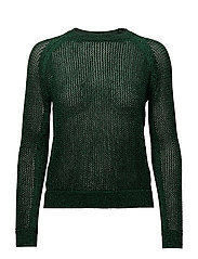 Metallic finish sweater - GREEN