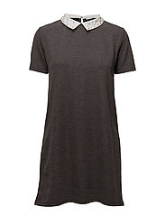 Babydoll neck dress - GREY