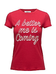 Printed message t-shirt - RED