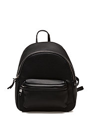 Pebbled backpack - BLACK