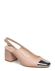 Metallic pointed toe shoes - LT-PASTEL PINK