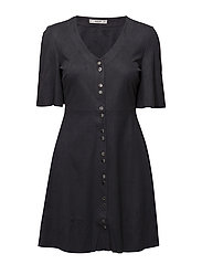 Short buttoned dress - NAVY
