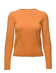 Ribbed detail sweater - ORANGE