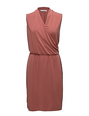 Ruched detail dress - BRIGHT RED