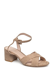 Criss-cross straps sandals - LT PASTEL BROWN