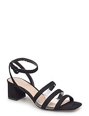 Breathable panel sandals - BLACK