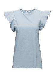 Ruffled sleeve t-shirt - LT-PASTEL BLUE