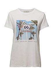 Printed image t-shirt - WHITE